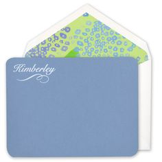 Wedgewood Blue Correspondence Cards with Rounded Corners