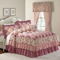 BrylaneHome Bedspread-in twin Shabby Chic Bedrooms, Shabby Chic Furniture, Shabby Chic Decor, Designer Bed Sheets, Doll Beds, Beautiful Bedrooms, Bed Design, Bed Spreads, Luxury Bedding