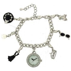 Hollywood Legends Audrey Hepburn Silver Charm Bracelet Fashion Watch W27/29M Silver Charm Bracelet, Audrey Hepburn, Fashion Bracelets, Fashion Watches, Hollywood, Charmed, Legends, Stuff To Buy, Accessories