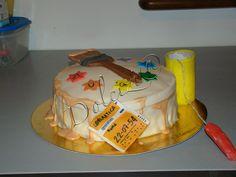 torta per papà, pittore edile