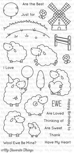 Birdie Brown Ewe Are the Best stamp set
