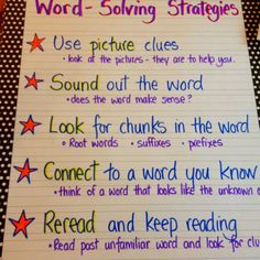 Anchor for solving word problems.