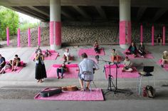 Turning a highway underpass into a pop-up music venue. Design Citizens: professional-grassroots urban tactics - Spacing National