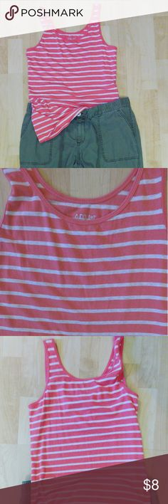 """Wardrobe Must-Have Striped Tank Apt.9 size M super soft striped tank - a staple of every closet!  Wear this just like new tank with jeans, shorts or to work on casual Friday under a denim jacket. 58% modal, 38% cotton, 4% spandex, Machine wash cold, dry flat. About 19"""" from armpit to hem, bust about 17"""". Apt. 9 Tops Tank Tops"""