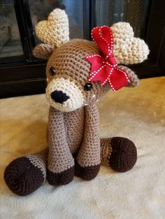 This super plush Deer is looking for a home that will give it all the hugs it deserves. The pattern used for this design is not my own and belongs to Lisa Beauchemin, AuroraGurumi