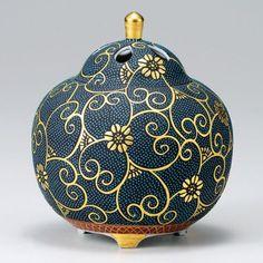 Kutani Porcelain Japanese Incense Burner Kosen HON Aotibu H14 5cm | eBay