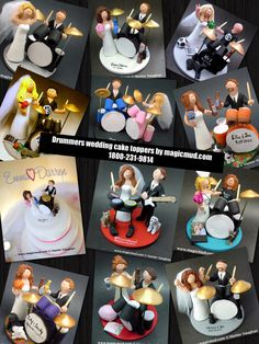 Drummers Wedding Cake Toppers www.magicmud.com 1 800 231 9814 magicmud@magicmud... blog.magicmud.com twitter.com/... $235 #wedding #cake #toppers #custom #personalized #Groom #drum #drumming #drummer #bride #anniversary #birthday #weddingcaketoppers #cake-toppers #figurine #gift #wedding-cake-toppers instagram.com/... www.tumblr.com/... www.facebook.com/...