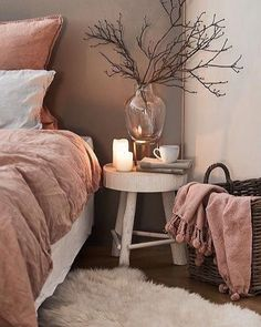 The country way of life is extremely relaxing. As well as it would certainly profit you to have a rustic bedroom design. That being stated, right here are Rustic Bedroom Ideas. I love this interior design! It's a great idea for home decor. Home design. Pink Bedroom Decor, Romantic Bedroom Decor, Dream Bedroom, Home Bedroom, Bedroom Retreat, Modern Bedroom, Bedroom Themes, Relaxing Bedroom Colors, Dusty Pink Bedroom
