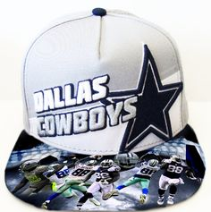 Dallas Cowboys Authentic New Era Snapback or Fitted Cap with custom bill.  by UrbanScholarApparel on e269bc56dd1