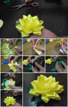 50 best satin ribbon flower images on pinterest diy flowers how to make satin ribbon flower mightylinksfo
