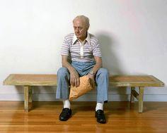 Duane Hanson, Man on a Bench, 1997 ©