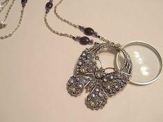 Magnifying Glass Rhinestone Butterfly Swivel by JENSTARDESIGNS, $24.99