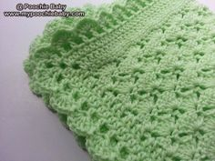 lovely baby blanket - the color make me think of spring...:-)  http://crocheting.myfavoritecraft.org/crochet-baby-patterns/