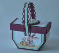 Tutoriel panier de pâques par Marie Meyer Stampin up - http://ateliers-scrapbooking.fr/