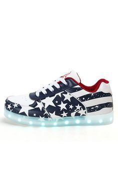 Women Men LED Light Lace Up American Flag Sportswear Sneaker Luminous Soft Shoes Luminous Stars Sneaker Soft Fashion Shoes | ราคา: ฿1,525.60 | Brand: Unbranded/Generic | See info: http://www.topsellershoes.com/product/58527/women-men-led-light-lace-up-american-flag-sportswear-sneaker-luminous-soft-shoes-luminous-stars-sneaker-soft-fashion-shoes