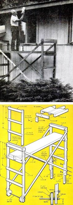 Build Mobile Scaffold - Woodworking Plans and Projects   WoodArchivist.com