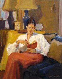Neal, Michael Shane (b,1968)- Woman Reading on Couch