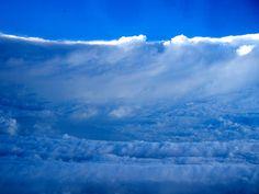 Inside the eye of Hurricane Katrina. Photo taken by NOAA hurricane hunter aircraft pilot.