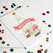 Card. Cardmaking. Tarjeta. Tarjeteria. Navidad. Christmas. La pareja creativa. Arbol navidad.