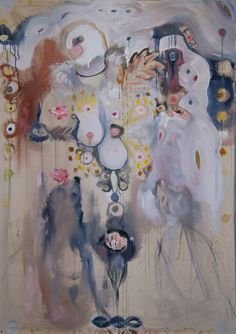"""Saatchi Art Artist Hannah Dean; Painting, """"Little Miss Muffet Tell-Tale Tit, or Fancy That on Unstretched Canvas"""" #art"""