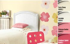 Inspiring Kid's Room Paint Colors - Create your joyful kids' room with Paint Colors from Olympic® Paints. Combinations of creamy yellows and pretty pinks evoke happy and optimistic energy.