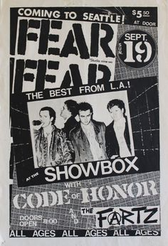 A Punk Event I attended in my youth Fear, 1982