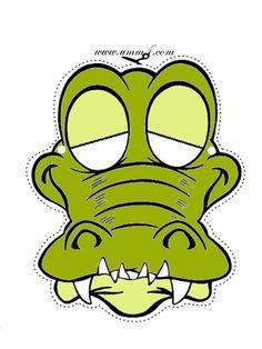 maskа iz bumagi krokodil Маски из бумаги