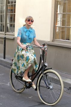 In an ideal world. I would always ride bikes wearing chiffon skirts, and not wearing helmets.
