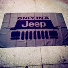 3x5 Foot Jeep Flag Only in a Jeep Banner