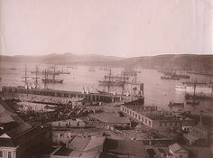 Vista al puerto. Valparaiso, 1890s