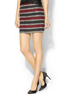 Hive & Honey Tweed Stripe Skirt   Piperlime