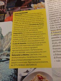 Ponza#Settimanale#Gioia#Orestorante#Oresteria#Isola