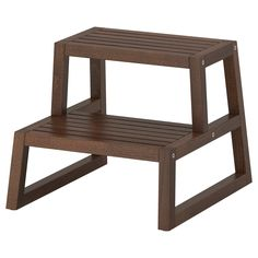 "MOLGER Step stool - dark brown, 16 1/8x17 3/8x13 3/4 "" - IKEA"