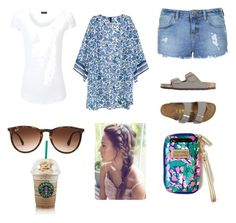 """""""Within everything Starbucks is always good☺️"""" by sierra-driscoll on Polyvore featuring Joseph, Topshop, Ray-Ban and Birkenstock"""