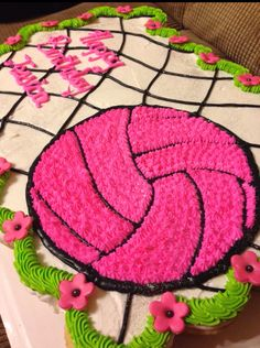 #volleyball cupcake cake