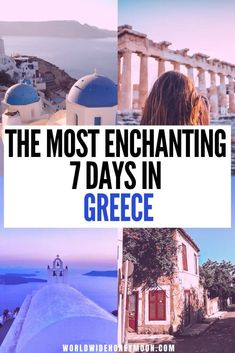 The Perfect Greece Itinerary in 7 Days - World Wide Honeymoon - - If you're looking for a well-rounded and exciting Greece itinerary in 7 days, this is the complete guide for the perfect week in Greece. Voyage Europe, Europe Travel Guide, Travel Guides, Greece Vacation, Greece Travel, Cool Places To Visit, Places To Travel, Travel Destinations, Santorini Greece