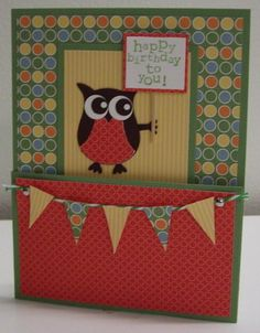 Another great card using the owl punch. This would be cute done up in red, white, and blue for the 4th of July.