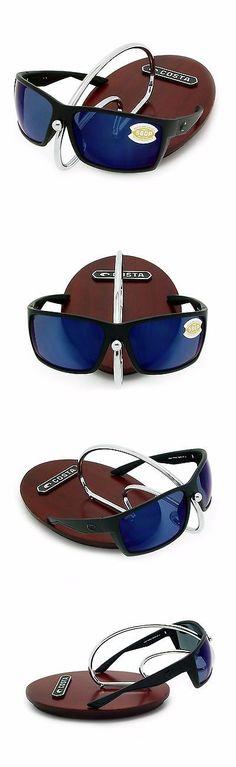 d351271d2b Sunglasses 151543  Costa Del Mar Reefton Blackout And Blue Mirror Plastic 580  New 580P -