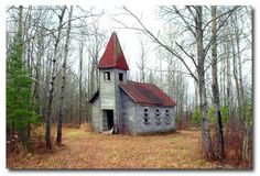 Old Abandoned Estonian Lutheran Church near Gleason, in Northern Wisconsin.