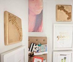 Studded Wood Wall Art | 25 Gorgeous DIYs For Your Teenage Girl's Room