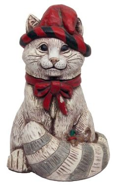 The Stone Bunny CHR08340111 Painted Resin Snow Kitty Outdoor Statue 11Inch >>> Check out this .