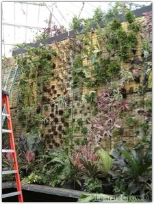 Creating a huge wall of epiphytes attached to aluminum grating over rock wool. Read article for ideas! Garden Deco, Garden Art, Garden Design, Air Plants, Indoor Plants, Verticle Garden, Epiphyte, Growing Plants Indoors, Air Plant Display
