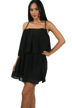 The supper club dress! This is the perfect dress for a night out or a beach party. The dress has a layered model so it will covered up some insecurities you might have.   #dresses #nicedress #blackdress   www.2dayslook.com