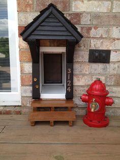 What a fantastic cat door idea!