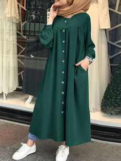 Modest Fashion Hijab, Modesty Fashion, Modest Outfits, Abaya Fashion, Stylish Dresses For Girls, Stylish Dress Designs, Girls Dresses Sewing, Muslim Women Fashion, Islamic Fashion