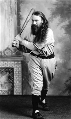 A group of maverick Israelites who came to America and formed a baseball team known as the House of David Baconeaters Baseball Shirts, Baseball Players, Moustaches, House Of David, The Sporting Life, Benton Harbor, Basketball Shooting, Baseball Training, Baseball Pictures