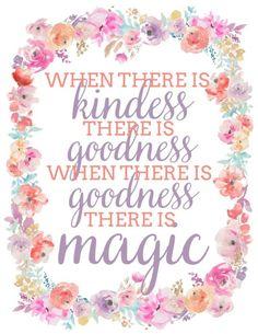 Floral Cinderella quote printable