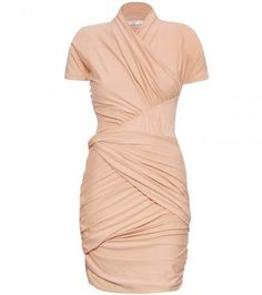 Carven DRAPED JERSEY DRESS - perfect for a Soft Dramatic