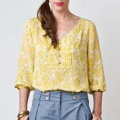 Sarah Blouse Bamboo White, $115, now featured on Fab.