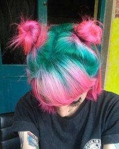 Inspiring Pastel Hair Color Ideas – My hair and beauty Hair Dye Colors, Cool Hair Color, Weird Hair Colors, Unique Hair Color, Bright Hair Colors, Pelo Multicolor, Dye My Hair, Dyed Hair Pink, Hot Pink Hair